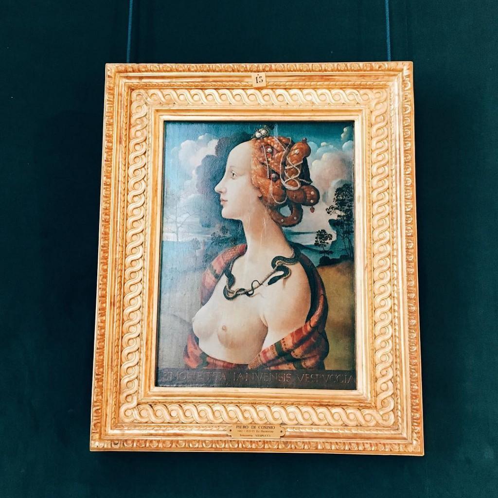 Piero di Lorenzo Portrait de Simonetta Vespucci au Musee Condhellip